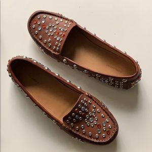 Isabel Marant Embellished Leather Loafers Sz. 41